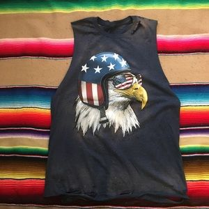 164e83aec189 Tops - Distressed Bleached Easy Rider American Eagle T M